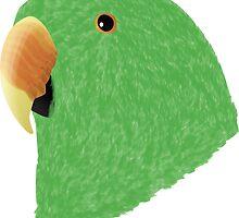 Eclectus [Male] Parrot by Daniel Bevis