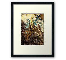 Grungy Melbourne Australia Alphabet Letter P St Patrick's Cathedral Framed Print
