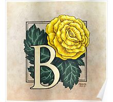 B is for Begonia Poster