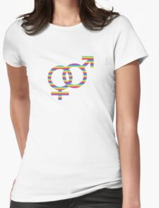 rainbow girls & boys Womens Fitted T-Shirt