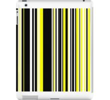Vertical Bar Stripes Black and Yellow iPad Case/Skin