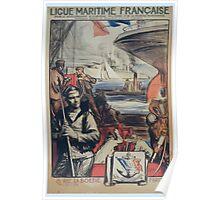Ligue Maritime française pour le développement de la marine militaire et de la marine marchande reconnue comme établissement dutilité publique Poster