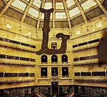 Grungy Melbourne Australia Alphabet Letter L State Library of Victoria by Beverly Claire Kaiya