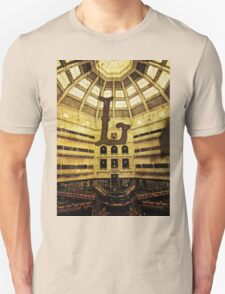 Grungy Melbourne Australia Alphabet Letter L State Library of Victoria T-Shirt