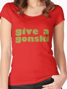 give a gonski Women's Fitted Scoop T-Shirt
