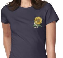 S is for Sunflower - patch Womens Fitted T-Shirt