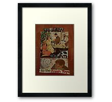 to beat you to the fresh toys Framed Print