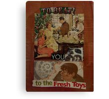 to beat you to the fresh toys Canvas Print