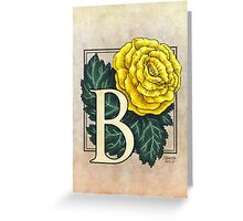 B is for Begonia Greeting Card
