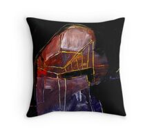 he is not here Throw Pillow