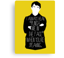 Usually it's subtext.  Canvas Print