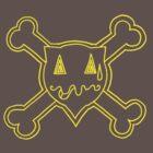 Percentum Skull & Xbones (yellow) by PercentumDesign