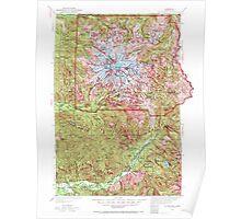 USGS Topo Map Washington State WA Mt Rainier 242663 1924 125000 Poster