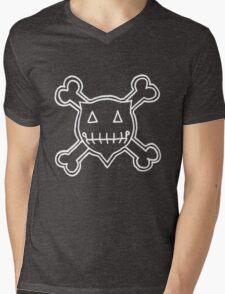 Percentum Skull & Xbones4 (white) Mens V-Neck T-Shirt