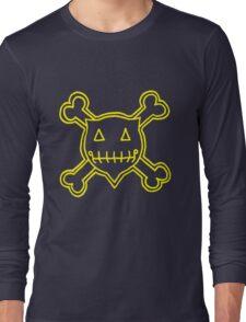 Percentum Skull & Xbones4 (yellow) Long Sleeve T-Shirt