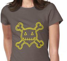 Percentum Skull & Xbones4 (yellow) Womens Fitted T-Shirt
