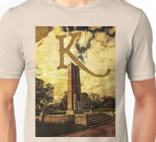 Grungy Melbourne Australia Alphabet Letter K Kings Domain Unisex T-Shirt