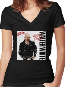 Smooth Criminal (Mr. White) Women's Fitted V-Neck T-Shirt