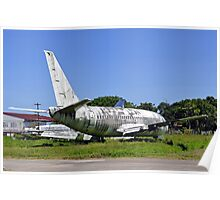 Abandoned airplane. Poster
