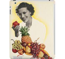 Vintage poster - Eat more fruit iPad Case/Skin