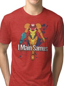 I Main Samus - Super Smash Bros. Tri-blend T-Shirt