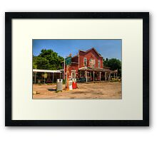 The Country Store - Aladdin, Wyoming Pop. 15 Framed Print
