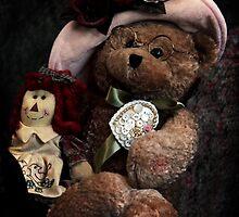BFFs: Teddy Bear and Raggedy Ann by Corri Gryting Gutzman