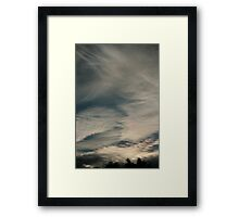 August Cold Winds Framed Print