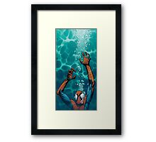Spiderman comic Framed Print
