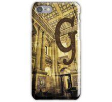 Grungy Melbourne Australia Alphabet Letter G Government Parliament Building iPhone Case/Skin