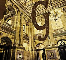 Grungy Melbourne Australia Alphabet Letter G Government Parliament Building by Beverly Claire Kaiya