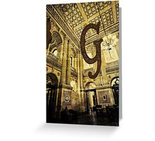 Grungy Melbourne Australia Alphabet Letter G Government Parliament Building Greeting Card