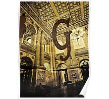 Grungy Melbourne Australia Alphabet Letter G Government Parliament Building Poster
