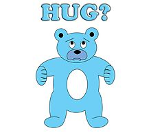 Sad Blue Bear - Hug? by Scott Ruhs