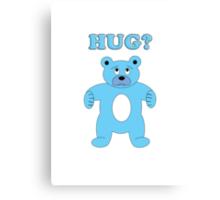 Sad Blue Bear - Hug? Canvas Print
