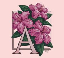 A is for Azalea - patch Kids Tee