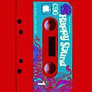 Red Happy Sounds Cassette Tape by HighDesign