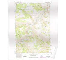 USGS Topo Map Oregon OR Troy 281880 1967 24000 Poster