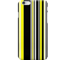 Vertical Bar Stripes Black and Yellow iPhone Case/Skin