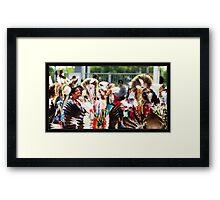 Dancers - A Gathering Framed Print