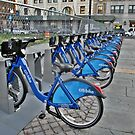 Citi-Bikes to Rent, Jersey City, New Jersey USA by Jane Neill-Hancock