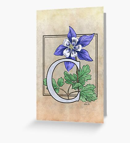 C is for Columbine - card Greeting Card