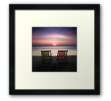 Go vacation Framed Print