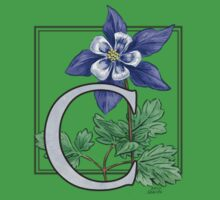 C is for Columbine - patch Baby Tee