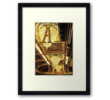 Grungy Melbourne Australia Alphabet Letter A Assembly Chamber Parliament Building Framed Print