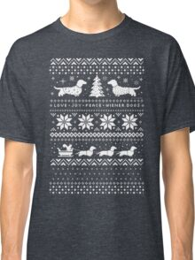 Dachshunds Christmas Sweater Pattern Classic T-Shirt