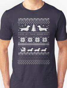 Dachshunds Christmas Sweater Pattern Unisex T-Shirt