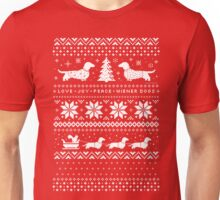 Dachshunds Christmas Sweater Pattern Unisex T-Shirt