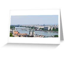 Budapest Danube Panorama Greeting Card