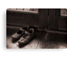 A childs shoes Canvas Print